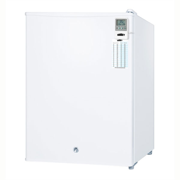 "Summit Refrigeration FF28LWHMED 18.5"" Compact Medical Refrigerator - Auto Defrost, 2.4 cu ft, White"