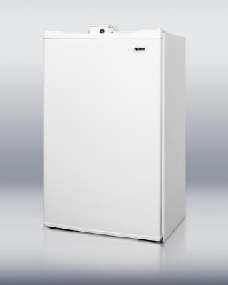 Summit Refrigeration FF430BLL Freestanding Refrigerator Freezer w/ Auto Defrost & Lock, Black, 3.9-cu ft