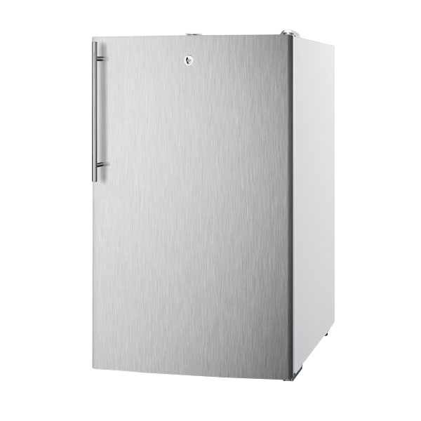 Summit Refrigeration FF511LBISSHV Built In Refrigerator w/ Thin Handle & Lock, 4.1-cu ft, White