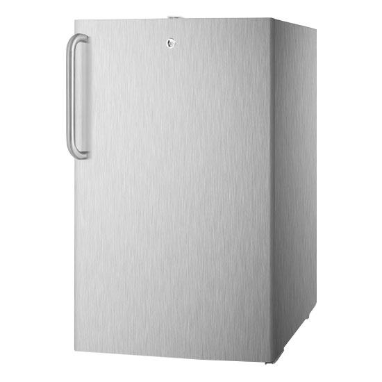 Summit Refrigeration FF511LCSSADA 20-in Undercounter Refrigerator w/ Pro Handle & Auto Defrost, Stainless, 4.5-cu ft, ADA