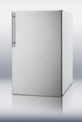 Summit Refrigeration FF511LXBISSHV Built In Refrigerator w/ Thin Handle, 4.1-cu ft, White/Stainless
