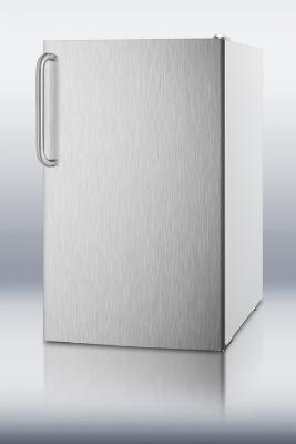 Summit Refrigeration FF511LXBISSTBADA 20-in Built In Undercounter Refrigerator w/ Auto Defrost, White, 4.1-cu ft, ADA