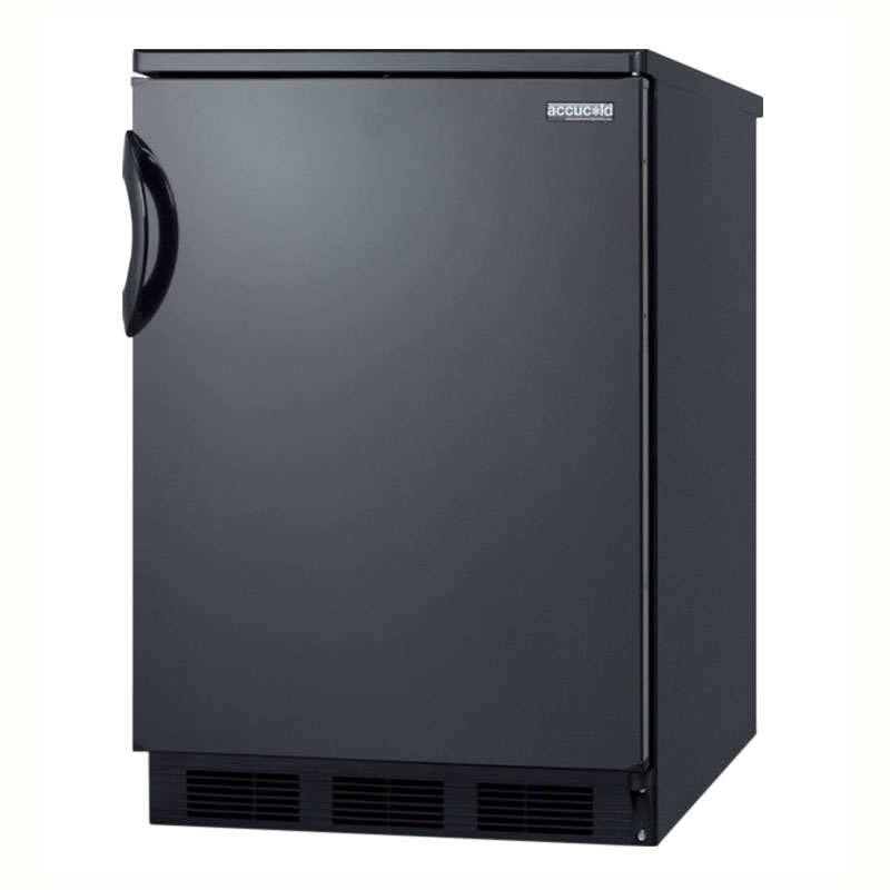 Summit Refrigeration FF6B7-JBLK Freestanding Refrigerator, 5.5-cu ft, Adjustable Glass Shelves, Jet Black