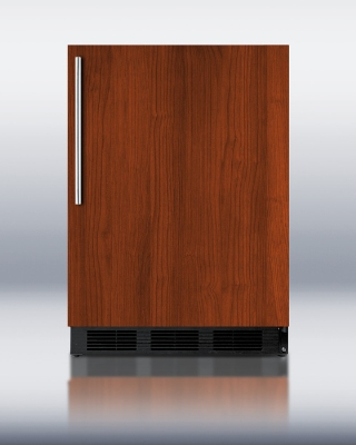 Summit Refrigeration FF6BBIIF JBLK 24-in Undercounter Refrigerator w/ Door Storage & Auto Defrost, Jet Black, 5.5-cu ft