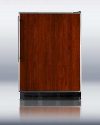 Summit Refrigeration FF6BFR BLK 24-in Refrigerator w/ Adjustable Shelves, Crisper Drawer & Auto Defrost, Black, 5.5-cu ft