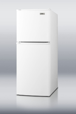Summit Refrigeration FF71 18-in Frost Free Refrigerator w/ 2-Door, Shelves & Thermostat, White, 4.8-cu ft, ADA
