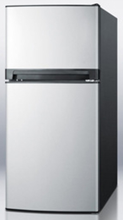 "Summit Refrigeration FF874SS Refrigerator Freezer - Door Storage, Crisper, Black/Stainless, 51x24"", 8-cu ft"