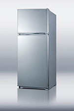 Summit Refrigeration FF882SLVSS Refrigerator Freezer w/ Frost Free Operation & Crisper Drawer, 8.8-cu ft