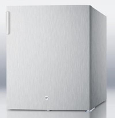 """Summit Refrigeration FFAR22LWCSS 17.38"""" Refrigerator - Auto Defrost, 1.6 cu ft, Stainless"""