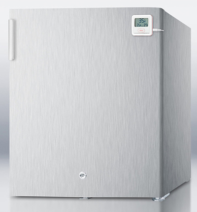 "Summit Refrigeration FFAR22LWCSSPLUS 17.38"" Medical Grade Refrigerator - Auto Defrost, 1.6 cu ft, Stainless"