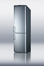 "Summit Refrigeration FFBF171SS 24"" Bottom Freezer/Refrigerator Combo - 11.47 cu ft, Frost Free, Stainless"
