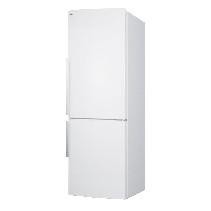 Summit Refrigeration FFBF240W 24-in Bottom Freezer Refrigerator w/ Wine Shelf & 2-Crispers, White, 9.85-cu ft