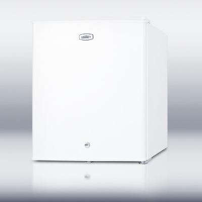 Summit Refrigeration FS22L Compact Countertop Freezer, 1.3-cu ft, Dial Thermostat, Lock, White