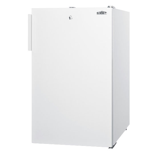 Summit Refrigeration FS407LBI 20-in Undercounter Freezer w/ Manual Defrost, Adjustable Thermostat & 4-Drawer,2.8-cu ft