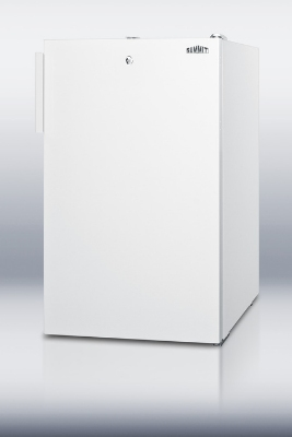 Summit Refrigeration FS407LBIADA 20-in Undercounter Freezer w/ Lock, White, 2.8-cu ft, ADA