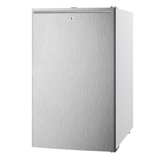 Summit Refrigeration FS407LBISSHH Built In Freezer, Horizontal Handle, Lock, 2.8-cu ft, White/Stainless
