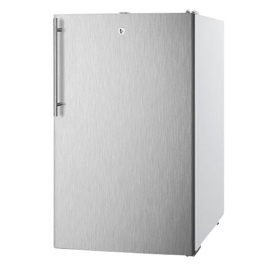 Summit Refrigeration FS407LBISSHVADA Built In Freezer, Lock & Thin Handle, Stainless/White, 2.8-cu ft