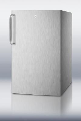 Summit Refrigeration FS407LCSSADA 20-in Built In Freezer w/ Lock & Professional Handle, White, 2.8-cu ft, ADA