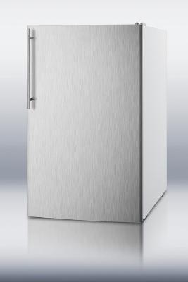 Summit Refrigeration FS407LXBISSHVADA 20-in Undercounter Freezer w/ Door & Thin Handle, White, 2.8-cu ft, ADA