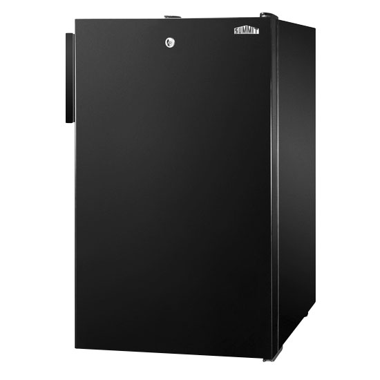 Summit Refrigeration FS408BLBI Built In Freezer w/ Lock, 2.8-cu ft, Black