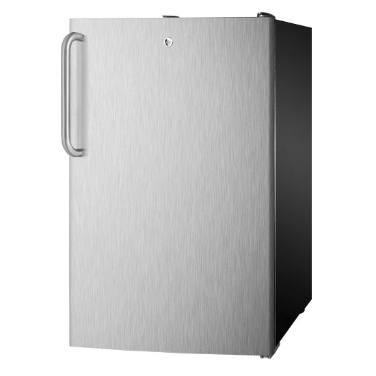 Summit Refrigeration FS408BLBISSTBADA 20-in Undercounter Freezer w/ Lock & Towel Bar Handle, Black, 2.8-cu ft, ADA