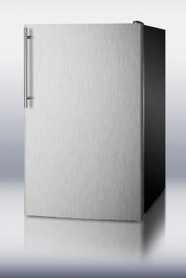Summit Refrigeration FS408BLXBISSHV Built In Freezer w/ Thin Handle, 2.8-cu ft, Black/Stainless