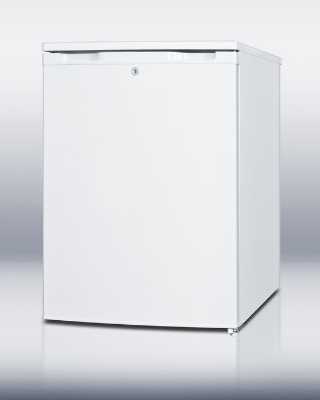 Summit Refrigeration FSM50LES Slim Counter Height Freezer w/ Manual Defrost & 5-Shelves, White, 4.4-cu ft
