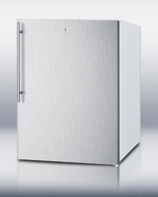 Summit Refrigeration FSM50LESSSHVADA F32x24-in Freezer w/ Manual Defrost, 2-Fixed Shelves & Handle, White, 4.4-cu ft