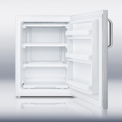 Summit Refrigeration FSM50LESSSTBADA 24-in Freezer w/ Manual Defrost, 2- Fixed Shelves & Lock, Stainless, 4.4-cu ft, ADA