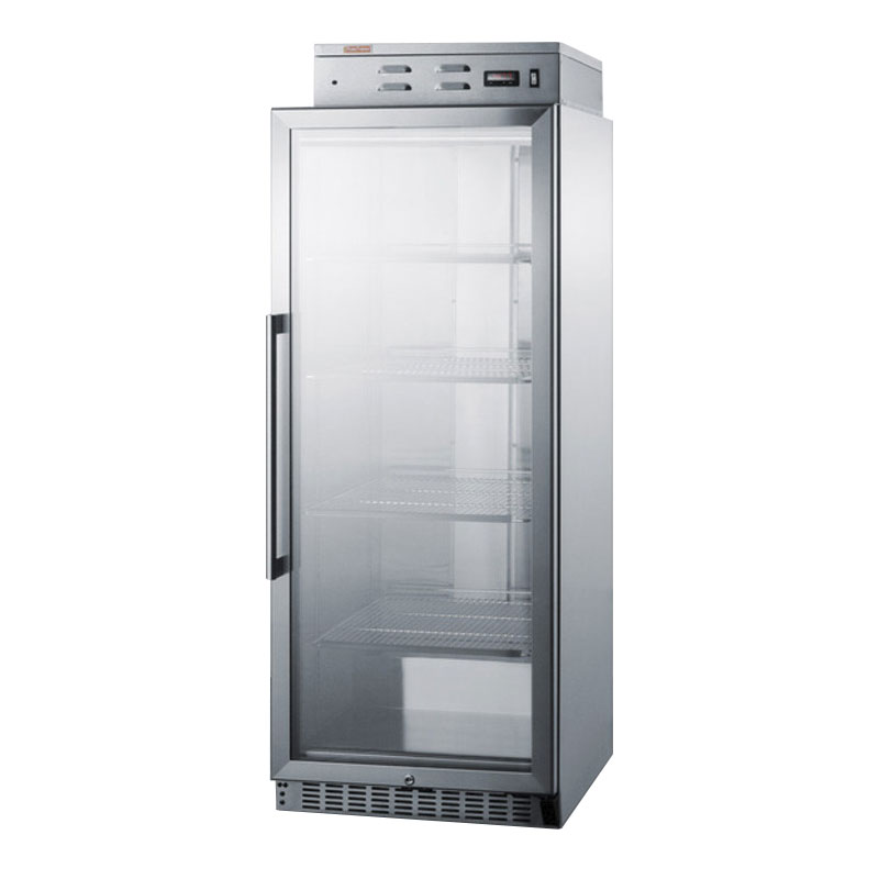 "Summit Refrigeration PHC115G 24"" Single Chamber Warming Cabinet with Lock, Stainless"