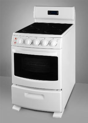 Summit Refrigeration REX204W Range w/ Clock Timer, Storage Compartment, Glass, Black, 2.62-cu ft