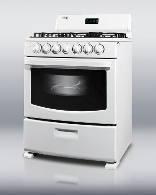 Summit Refrigeration RG306W LP Deluxe Sealed Burner Gas Range Spark Ignition White LP Restaurant Supply