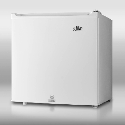 Summit Refrigeration S19L Compact Refrigerator Freezer - Cube Size, Lock, Door Storage, White, 1.7-cu ft