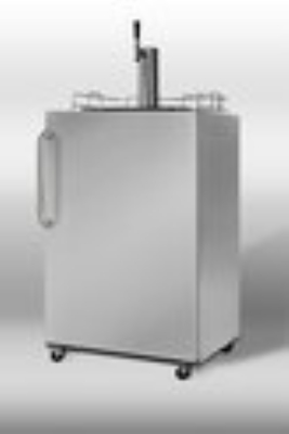"Summit Refrigeration SBC490-OS 24"" Outdoor Beer Dispenser - Reversible Door, Stainless, 1Keg"
