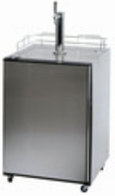 Summit Refrigeration SBC500SSST Beer Dispenser Half-Quarter-Mini Sankey Black Cab SS Door 24 in 1 Keg Restaurant Supply