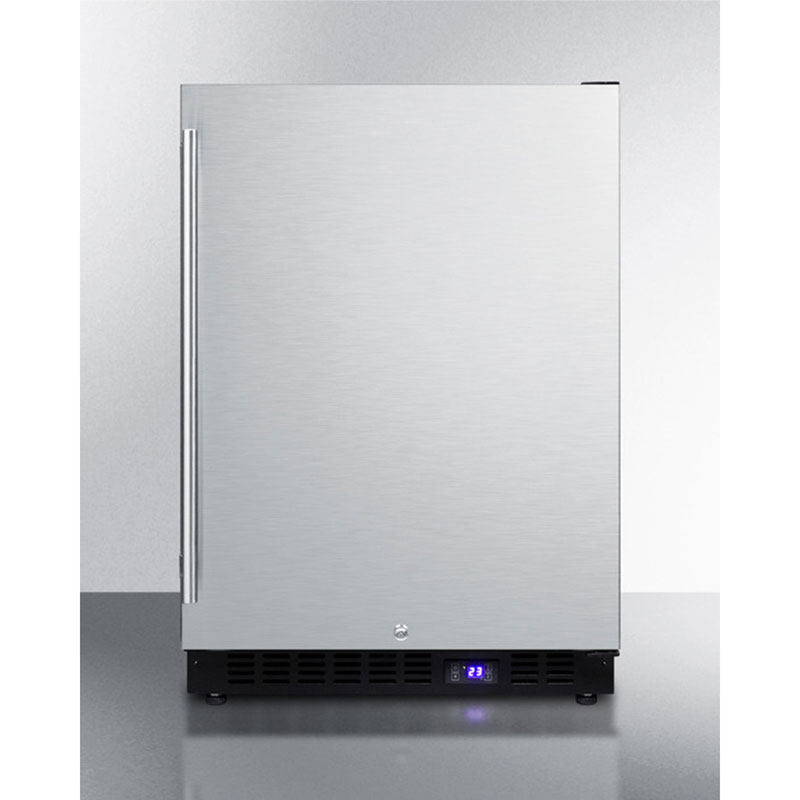 Summit Refrigeration SCFF51OSIM 24-in Frost Free Freezer w/ Reversible Door, LED Lighting & Digital Thermostat