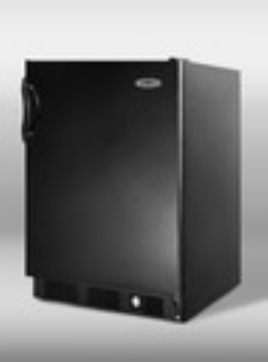 Summit Refrigeration SCFF55BIM Undercounter Freezer w/ Ice Maker, Black, 5-cu ft