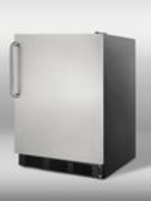Summit Refrigeration SCFF55BSSTB Undercounter Freezer, Black, Frost Free,Wrapped SS Door & Handle, 5.0