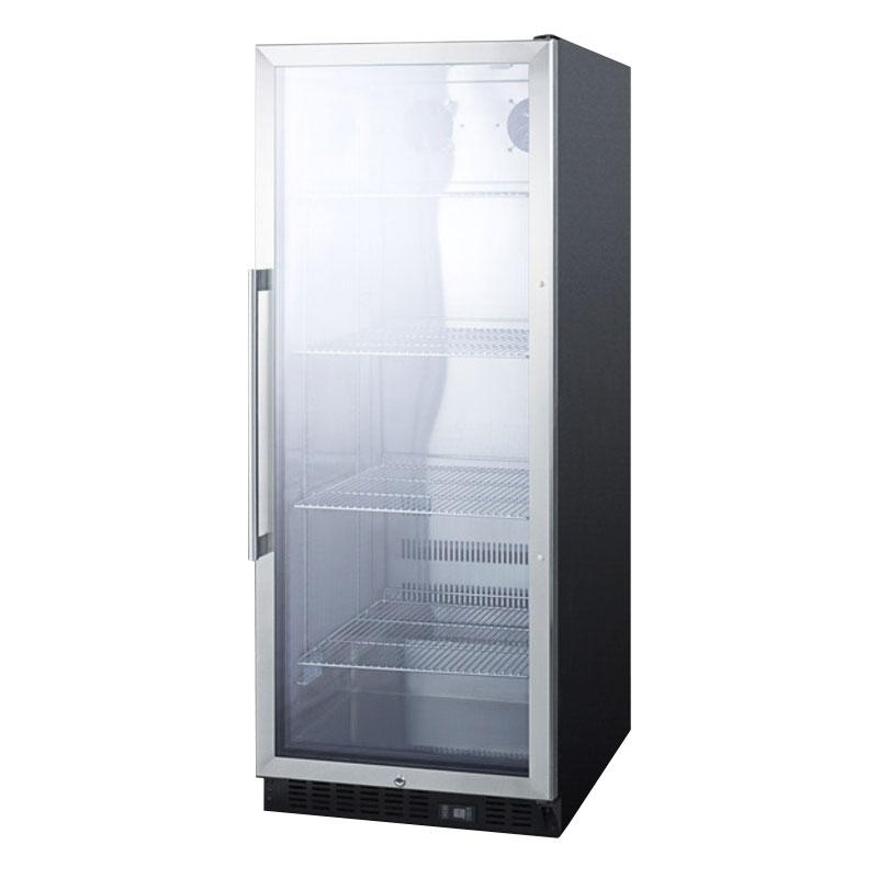 Summit Refrigeration SCR1156 Beverage Merchandiser - 11-cu ft, Stainless/Black 115v