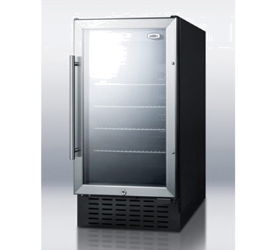 Summit Refrigeration SCR1841SSADA Beverage Cooler - Reversible Stainless Door, 3.3-cu ft, Stainless,