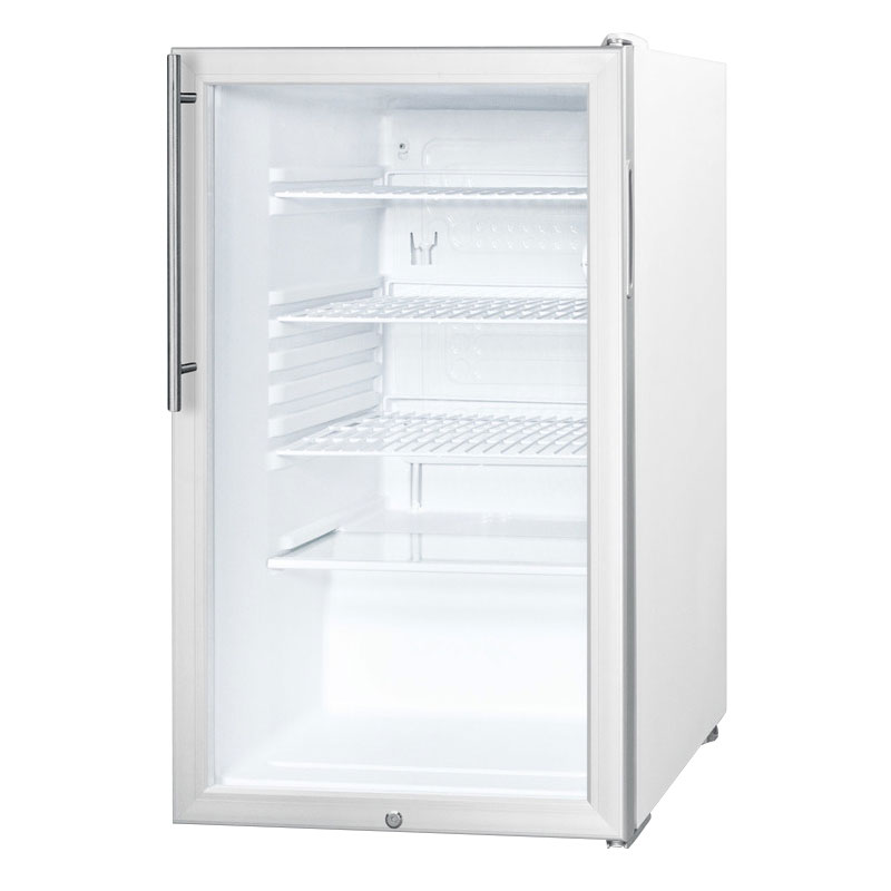 Summit Refrigeration SCR450LHV Counter Height Refrigerator w/ Auto Defrost, Handle & Lock, Stainless, 4.1-cu ft
