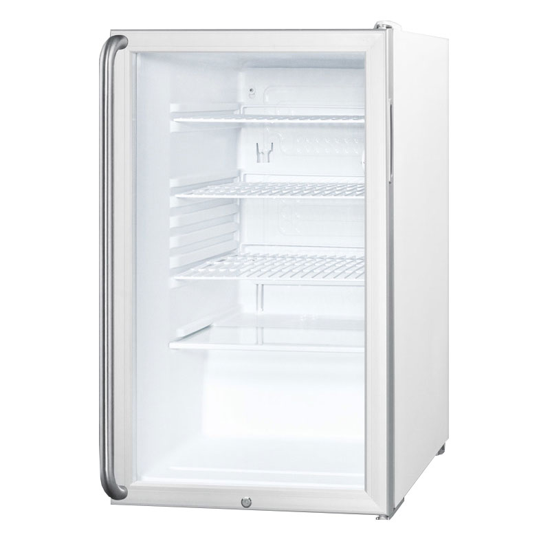 Summit Refrigeration SCR450LSH Counter Height Refrigerator w/ Auto Defrost & Towel Bar Handle, White, 4.1-cu ft