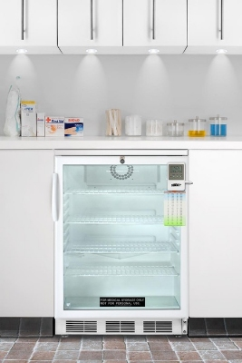 Summit Refrigeration SCR600LBIMED Refrigerator w/ Temperature Alarm, Auto Defrost & Internal