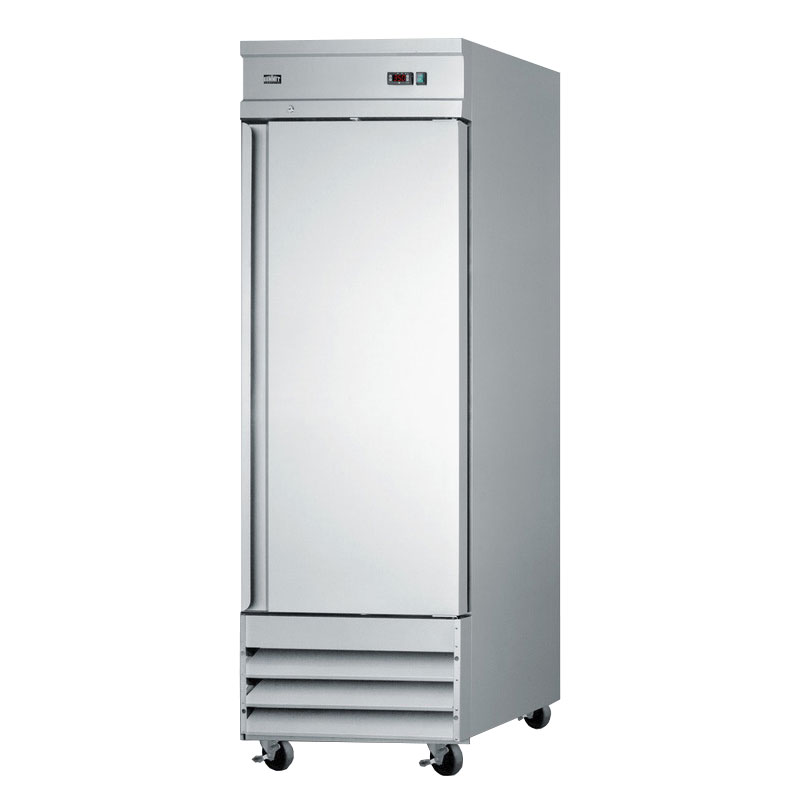 "Summit Refrigeration SCRR230 29"" Single Section Reach-In Refrigerator, Solid Door, 115v"