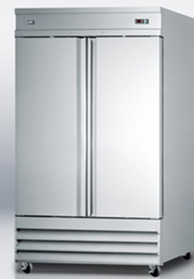 "Summit Refrigeration SCRR490 54"" Reach-In Refrigerator - 2-Door, 46.6 cu ft, Stainless"