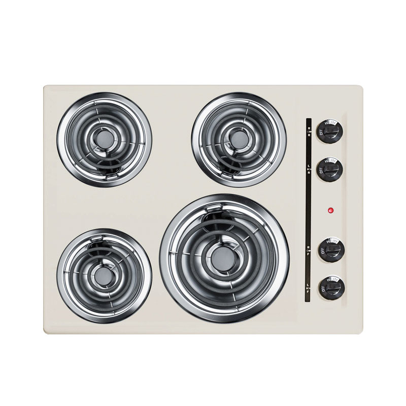 Summit Refrigeration SEL03 24-in Cooktop w/ 8-in Element & (3)6-in Coil Elements, Porcelain, 220/1V,