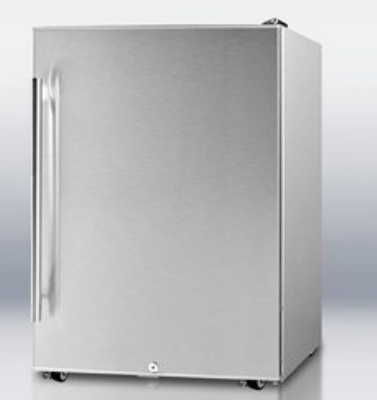 Summit Refrigeration SPR6OS 24-in Outdoor Refrigerator w/ Auto Defrost, Factory Lock & Casters, Stainless