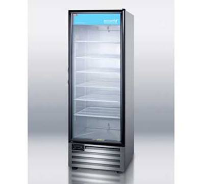 Summit Refrigeration ACR1515SS Pharmaceutical Refrigerator w/ Auto Defrost & Glass Door, Stainless, 115v, 17-cu ft