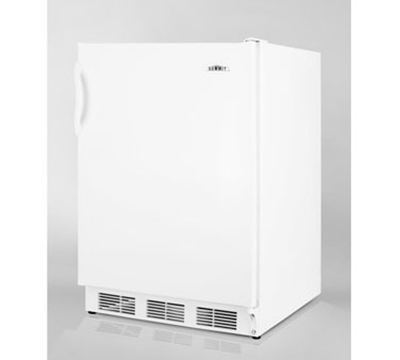 Summit Refrigeration AL650 Freestanding Undercounter Refrigerator Freezer w/ 1-Section, White, 5.1-cu ft, ADA