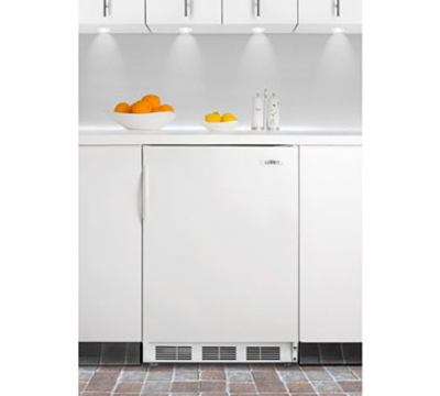 Summit Refrigeration AL650BI Undercounter Refrigerator Freezer w/ 1-Section, White, 5.1-cu ft,